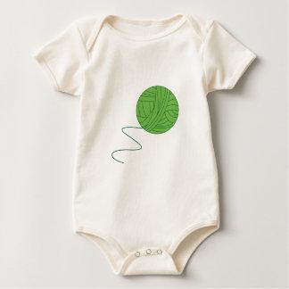 Green Ball of Yarn Baby Bodysuit