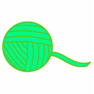Green Ball of Yarn Cutout