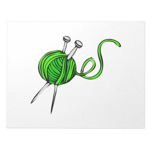 Green Ball of Yarn Memo Notepads
