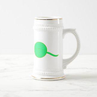 Green Ball of Yarn Mugs