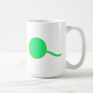 Green Ball of Yarn Coffee Mug
