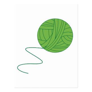 Green Ball of Yarn Postcard