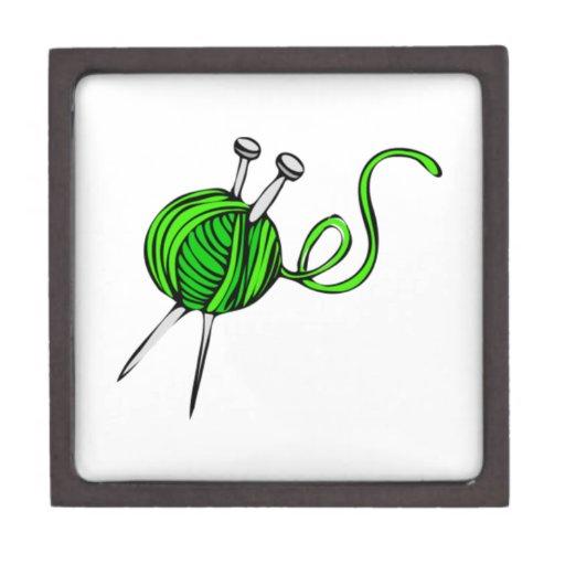 Green Ball of Yarn Premium Trinket Box