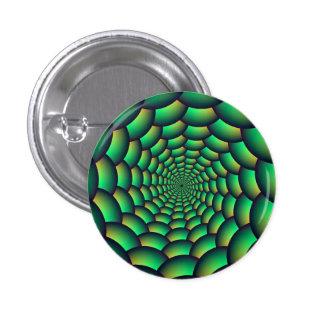 Green Ball Spiral Tunnel Pinback Button