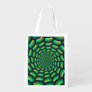 Green Ball Spiral Tunnel Grocery Bag