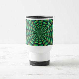 Green Ball Spiral Tunnel Travel Mug