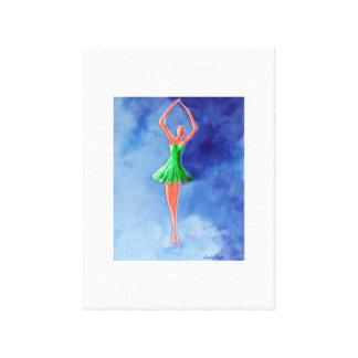 Green Ballerina Canvas Prints