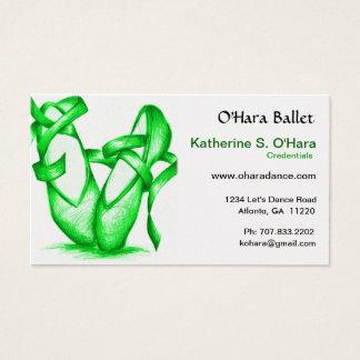 Green Ballet School Business Card