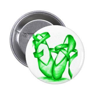 Green Ballet Slippers Button