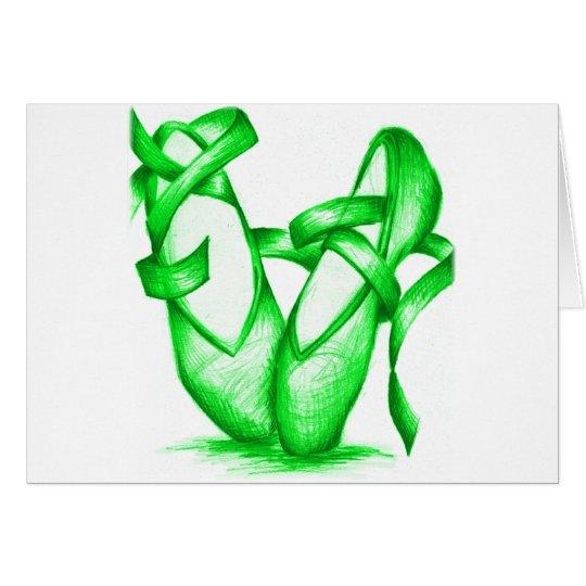 Green Ballet Slippers Card