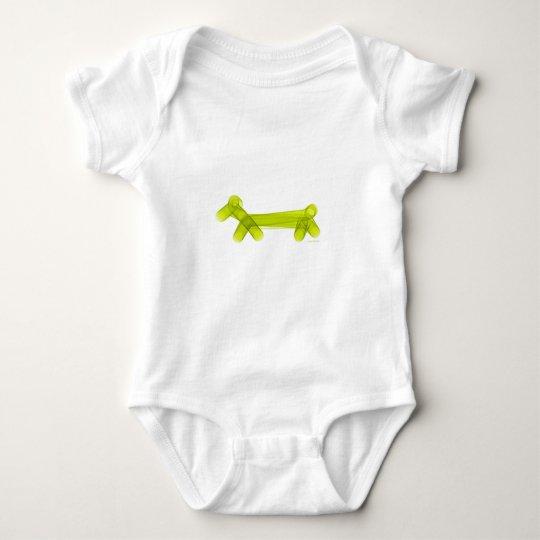Green Balloon Doggie Baby Bodysuit