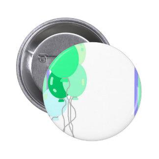 Green Balloons Pinback Buttons