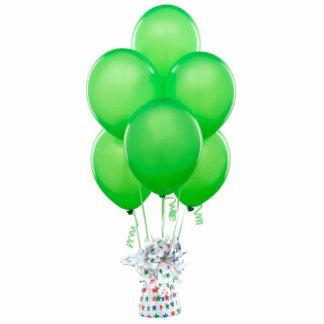 Green Balloons Ornament Photo Sculpture Ornament