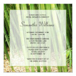 Green Bamboo Asian Bridal Shower Custom Invitation
