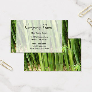 Green Bamboo Asian Business Card