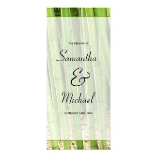 Green Bamboo Asian Wedding Program