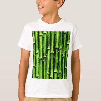 Green bamboo canes wood Natural Brown Texture Styl T-Shirt