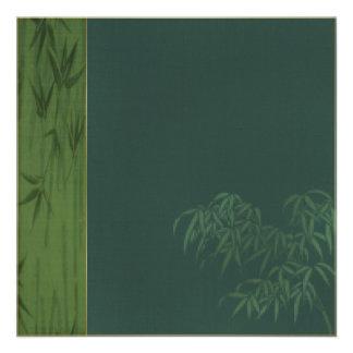 Green Bamboo Invitation