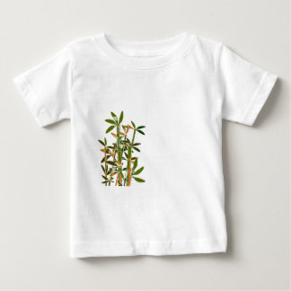 Green bamboo  isolated on white background baby T-Shirt