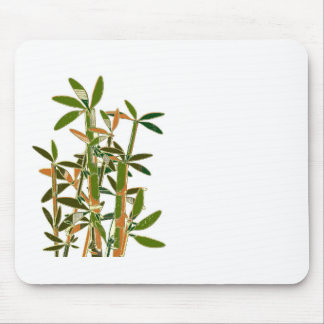 Green bamboo  isolated on white background mouse pad