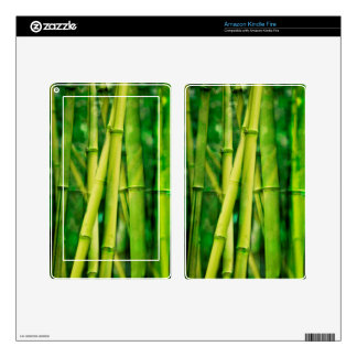 Green Bamboo Kindle Fire Decals