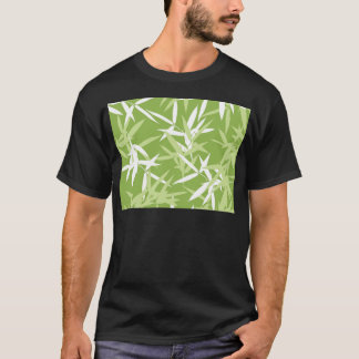 Green Bamboo Leaves Unique Pattern T-Shirt