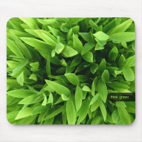 Green Bamboo mousepad