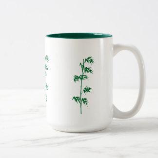 Green bamboo mug