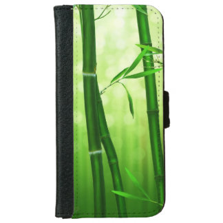 Green Bamboo With Pale Bokeh Lights In The Back iPhone 6/6s Wallet Case