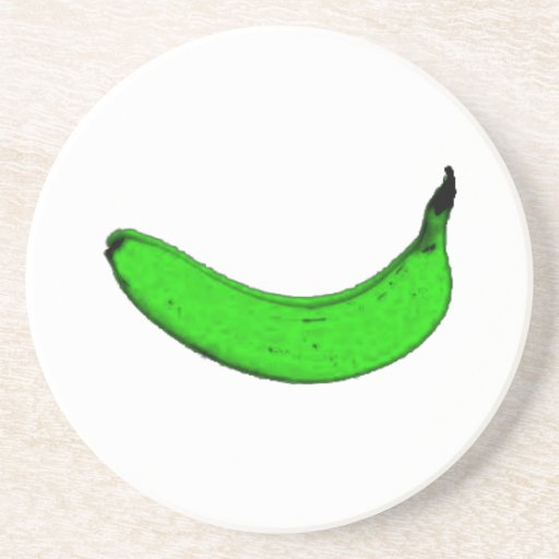 green banana beverage coasters