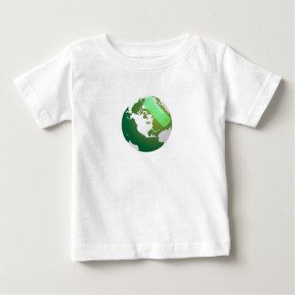 Green Bandaided Earth Baby T-Shirt