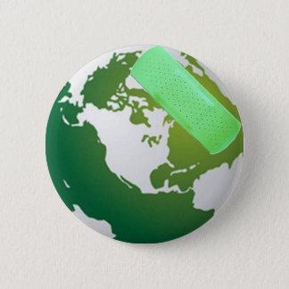 Green Bandaided Earth Pin