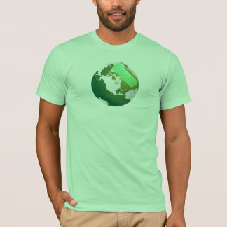 Green Bandaided Earth T-Shirt