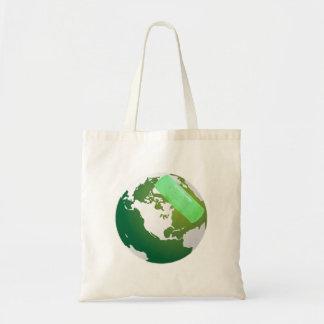Green Bandaided Earth Tote Bag