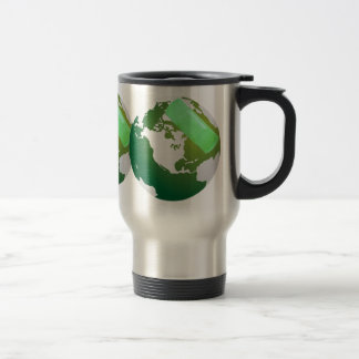 Green Bandaided Earth Travel Travel Mug