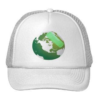 Green Bandaided Earth Trucker Hat