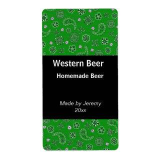 Green Bandana Beer Label