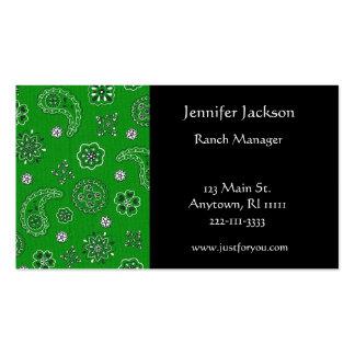 Green Bandana Business Cards