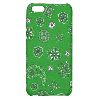 Green Bandana iPhone Case iPhone 5C Cover