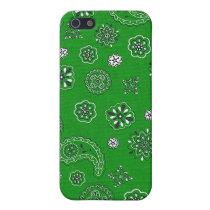 Green Bandana iPhone Case