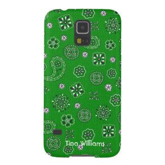 Green Bandana Samsung Galaxy S5 Case