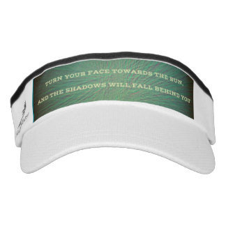 Green Banded Positive Inspirational Quote Visor