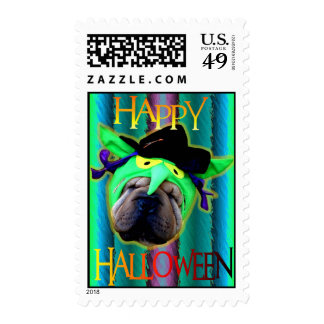 Green Bandit Costume Postage Stamps