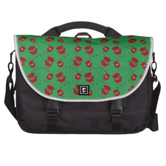 green barbeque pattern computer bag