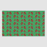 green barbeque pattern rectangular stickers