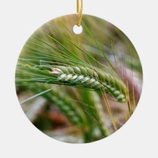 Green Barley Ceramic Ornament