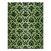 green, baroque, black, lace, pattern, paper, fantasy, Papel de cartas com design gráfico personalizado