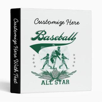 Green Baseball All Star T-shirts and Gifts Binder