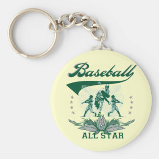 Green Baseball All Star T-shirts and Gifts Keychain