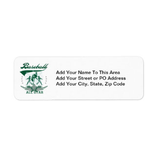 Green Baseball All Star T-shirts and Gifts Label